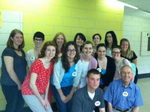 My (back row, third from the right) with my coworkers and fellow volunteers at the event!